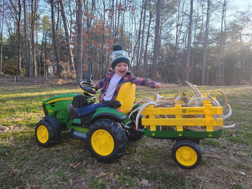 Easton on tractor - Drew Baggarly