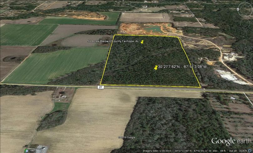 Aerial 4 59 acres baldwin county fairhope city agent todd edwards