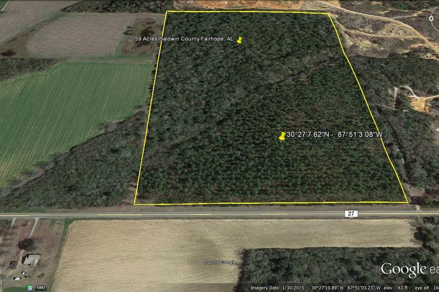 Aerial 2 59 acres baldwin county fairhope city agent todd edwards