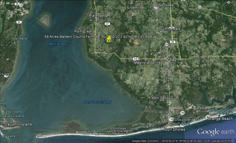 Aerial 3 59 acres baldwin county fairhope city agent todd edwards