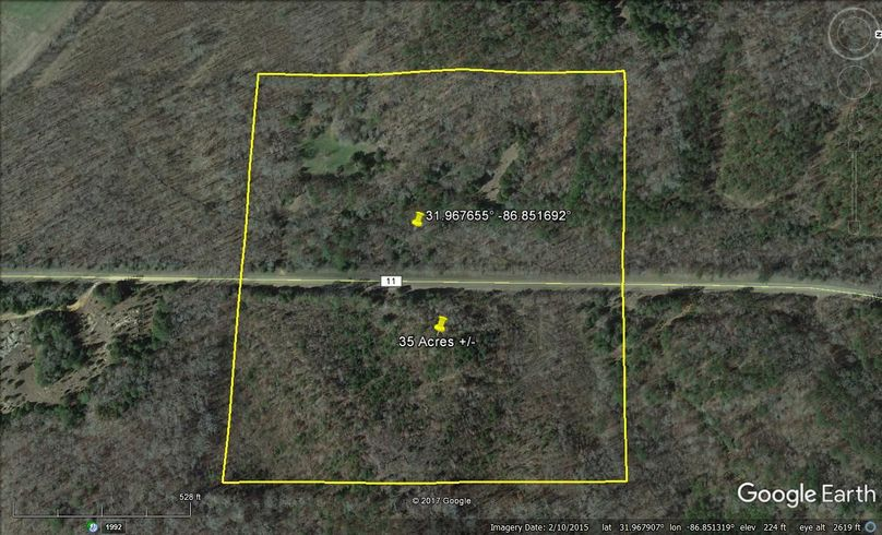 Aerial 4 approx. 35 acres lowndes county, al