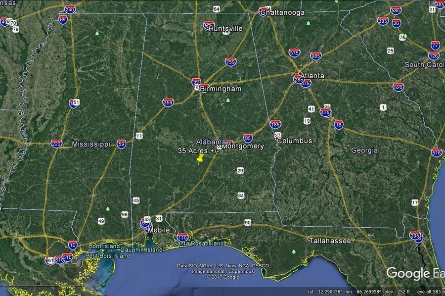 Aerial 9 approx. 35 acres lowndes county, al