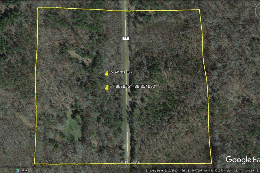 Aerial 1 approx. 35 acres lowndes county, al