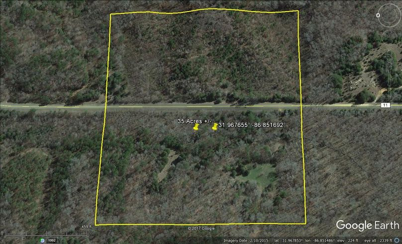 Aerial 2 approx. 35 acres lowndes county, al