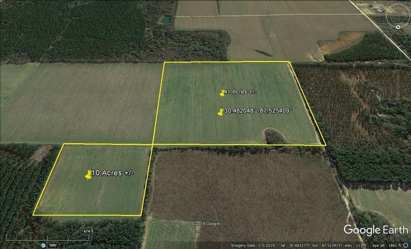 Aerial 4 approx. 51 acres baldwin county, al