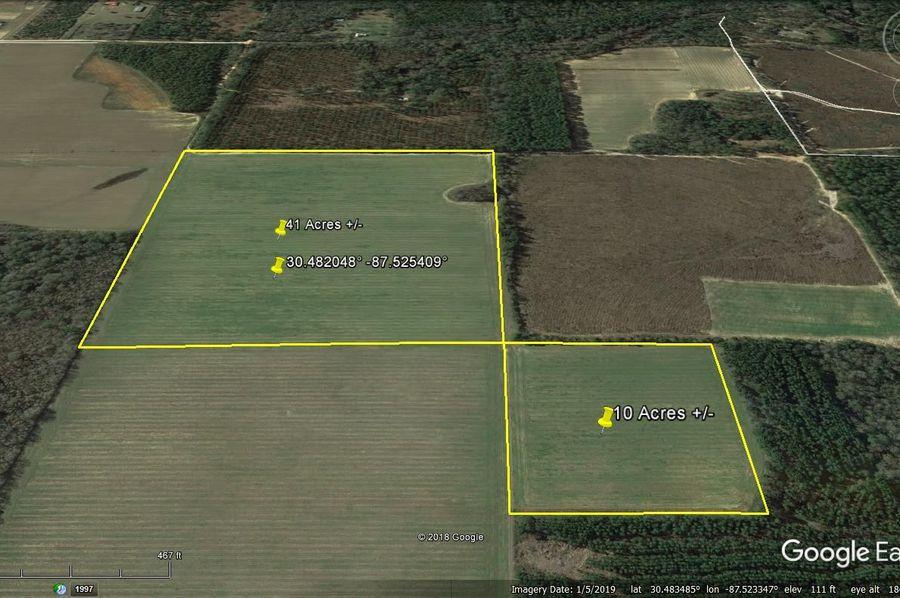 Aerial 5 approx. 51 acres baldwin county, al