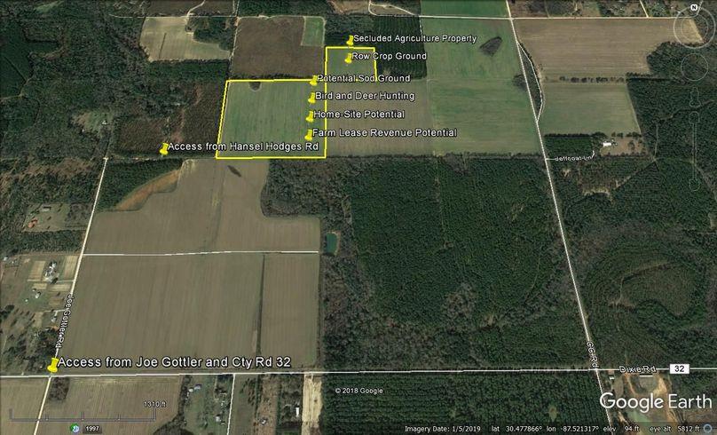 Aerial 6 approx. 51 acres baldwin county, al