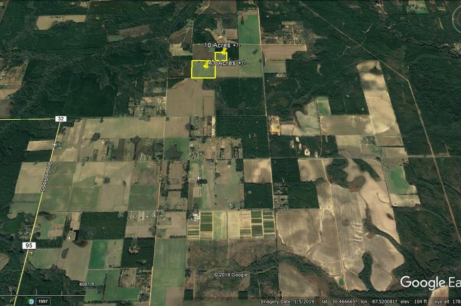 Aerial 7 approx. 51 acres baldwin county, al