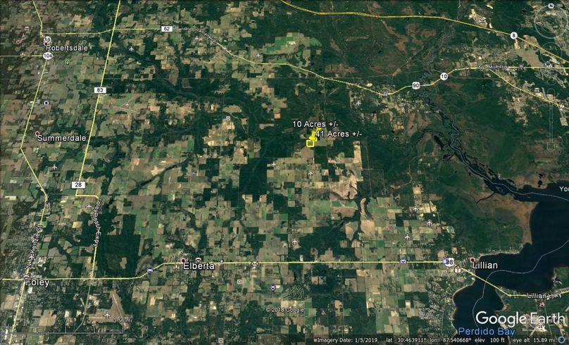 Aerial 8 approx. 51 acres baldwin county, al