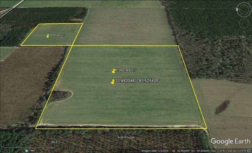 Aerial 3 approx. 51 acres baldwin county, al