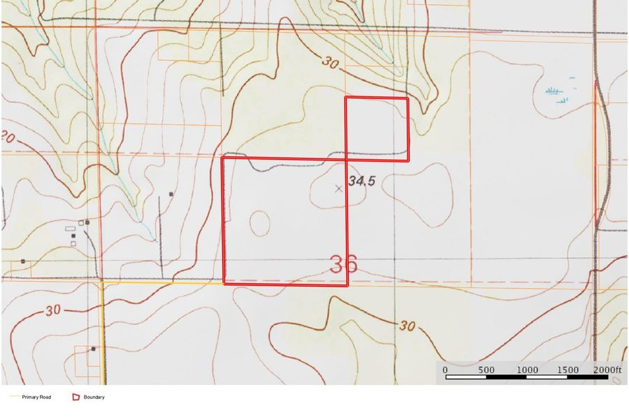 Topo map approx. 51 acres baldwin county, al