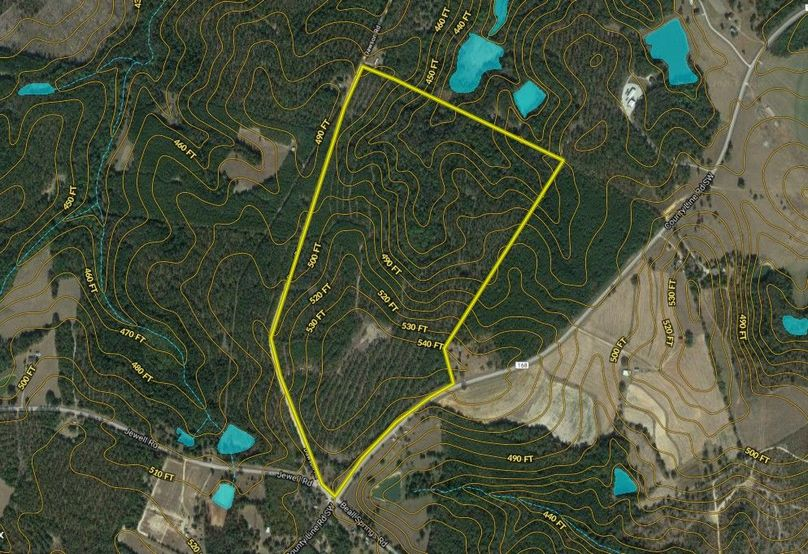 Warren county 153.38 acres map1