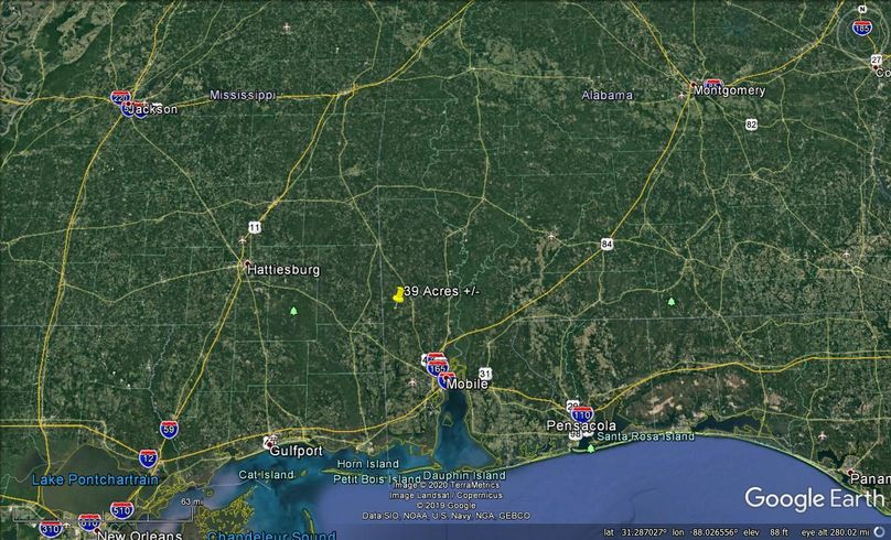 Zaerial 8 approx. 39 acres mobile county, al