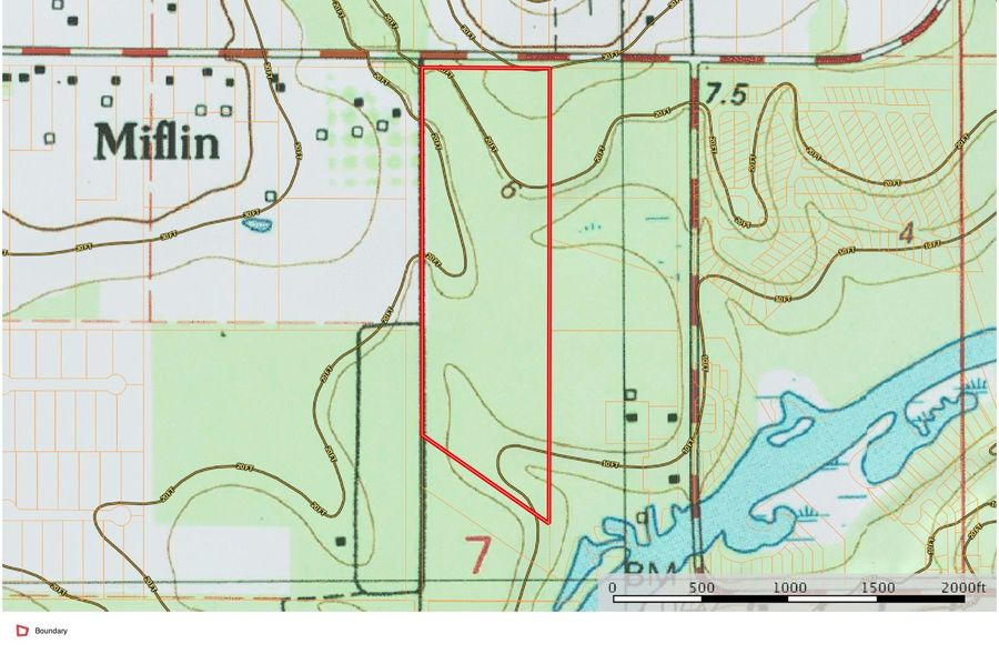 Topo map approx. 29 acres baldwin county, al