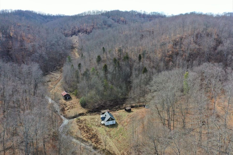 019 aerial drone shot in the upper reaches of the valley near the southeast boundary