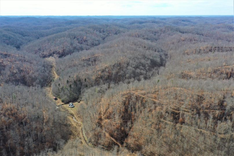 034 aerial drone shot in the south portion of the property looking south