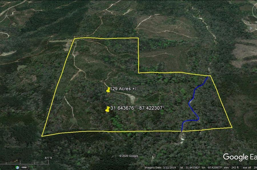 Aerial 4 approx. 129 acres monroe county, al