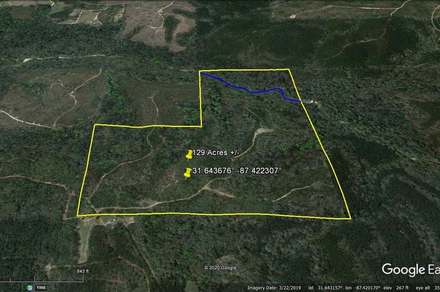 Aerial 5 approx. 129 acres monroe county, al