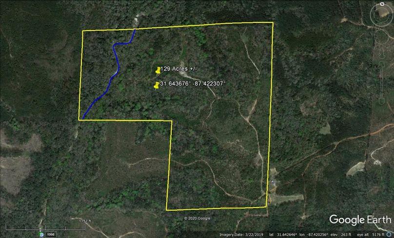 Aerial 1 approx. 129 acres monroe county, al