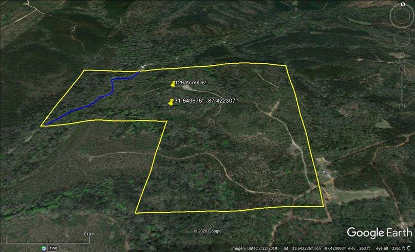 Aerial 2 approx. 129 acres monroe county, al