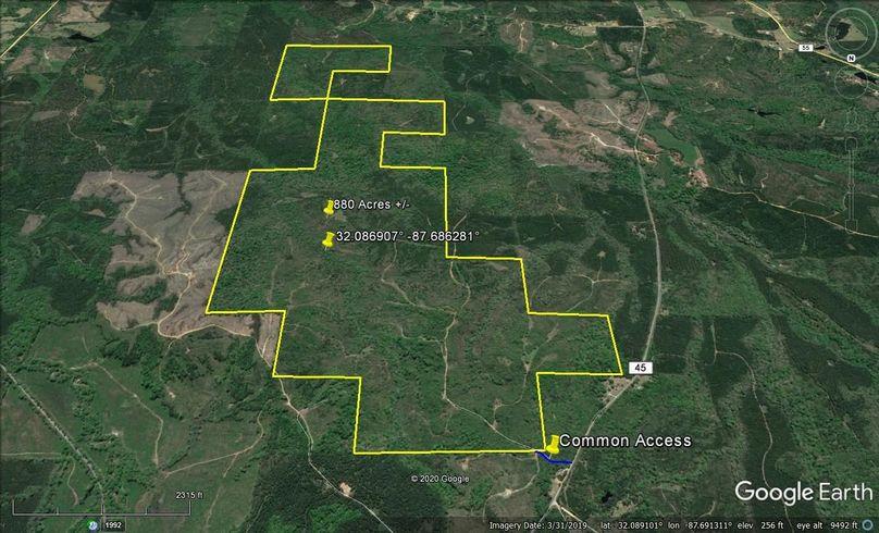 Aerial 4 approx. 880 acres marengo county, al