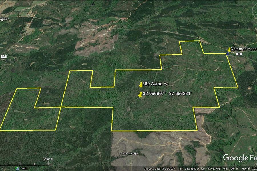 Aerial 5 approx. 880 acres marengo county, al