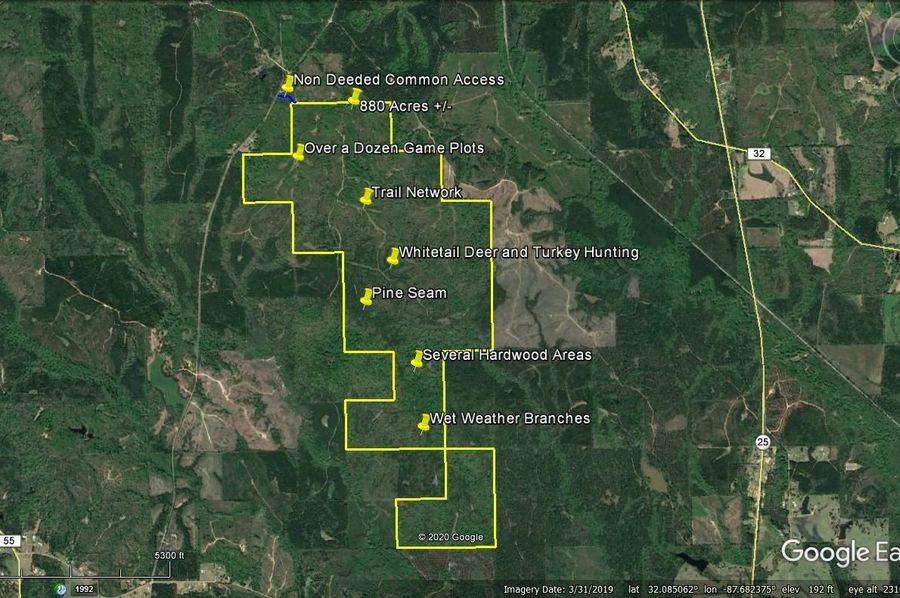 Aerial 6 approx. 880 acres marengo county, al