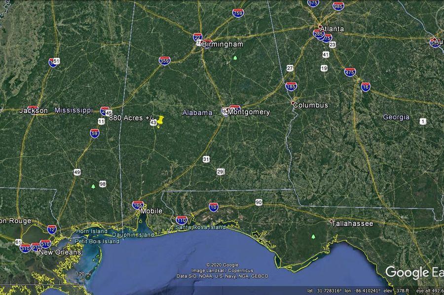 Aerial 11 approx. 880 acres marengo county, al
