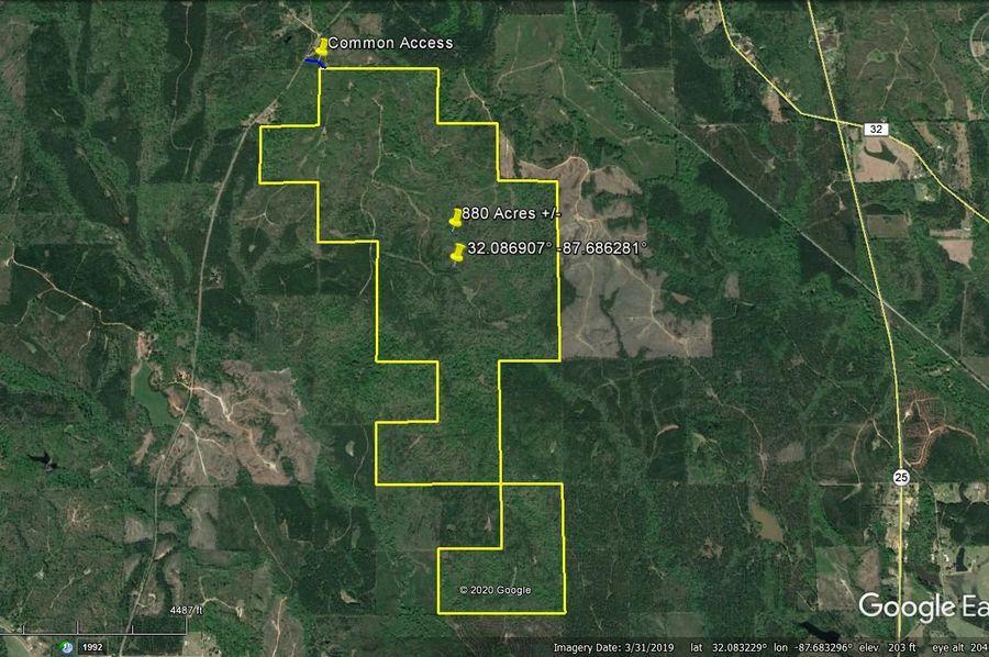 Aerial 1 approx. 880 acres marengo county, al
