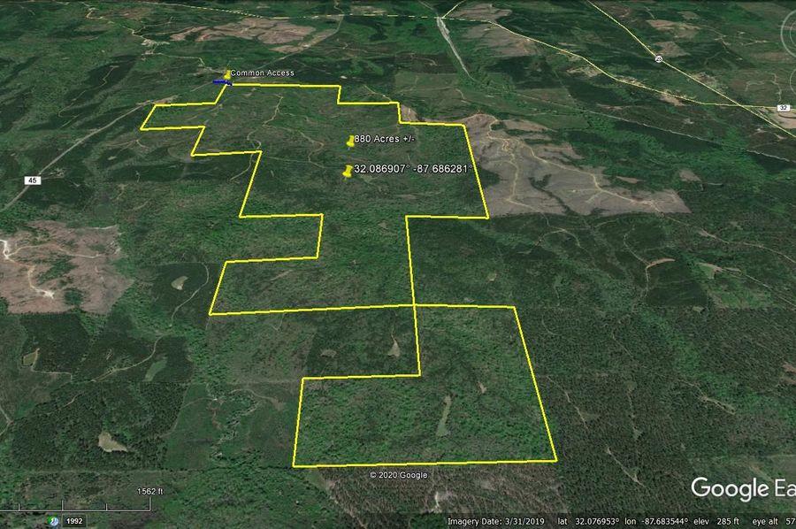 Aerial 2 approx. 880 acres marengo county, al