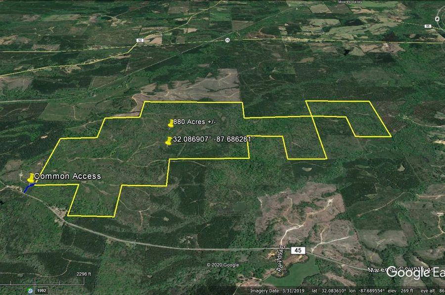 Aerial 3 approx. 880 acres marengo county, al
