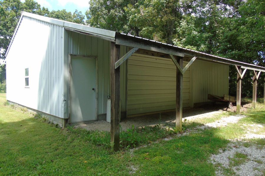 Metal storage shed w 2 rooms,  and electric