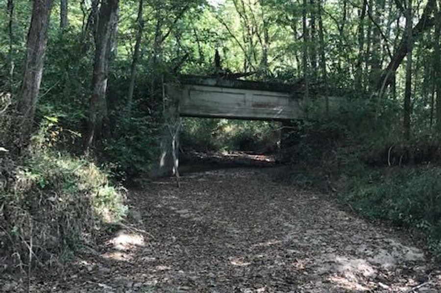 2nd bridge across creek. full size truck can cross