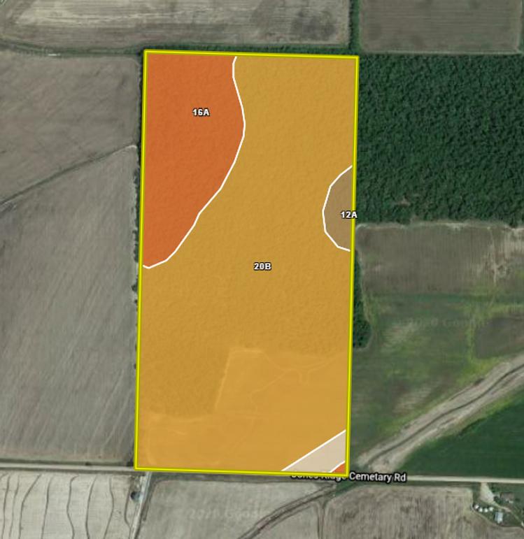 Greene 80 tract 1 soils map