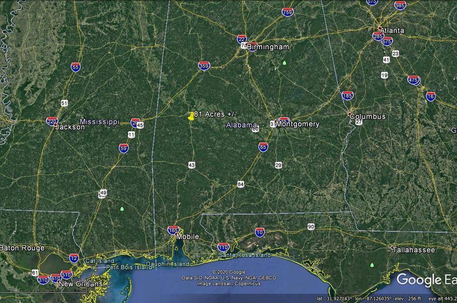 Aerial 10 approx. 81 acres marengo county, al