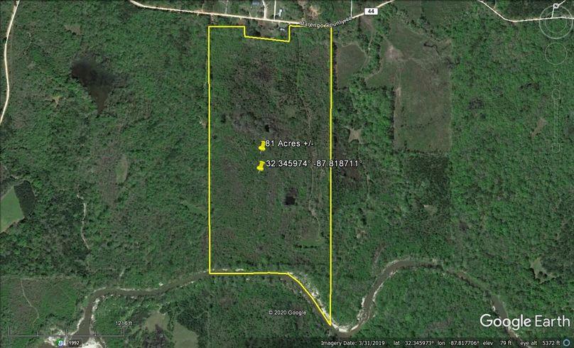 Aerial 1 approx. 81 acres marengo county, al