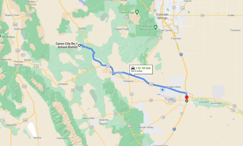Fremont 36 rogers directions to pueblo