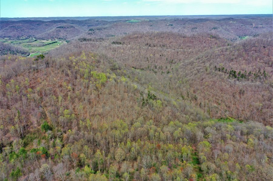 014 awesome aerial shot of limestone rock lines surrounding the property