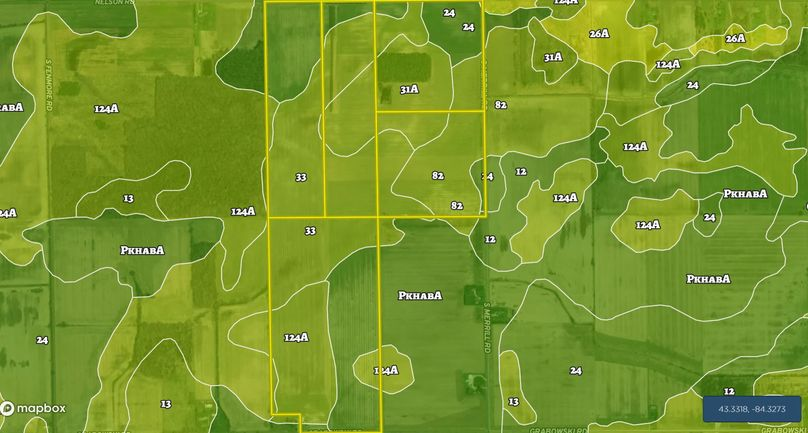 Frakes, soil map