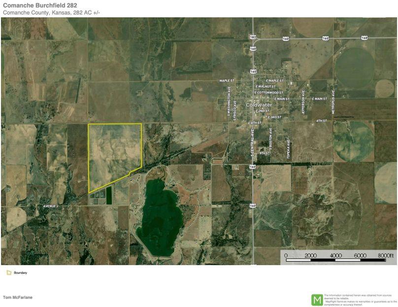 Comanche burchfield 282 map