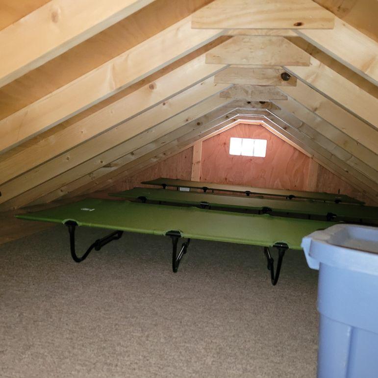 13 loft sleeping area