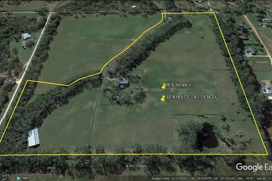 Aerial 4 approx. 26.6 acres baldwin county, al