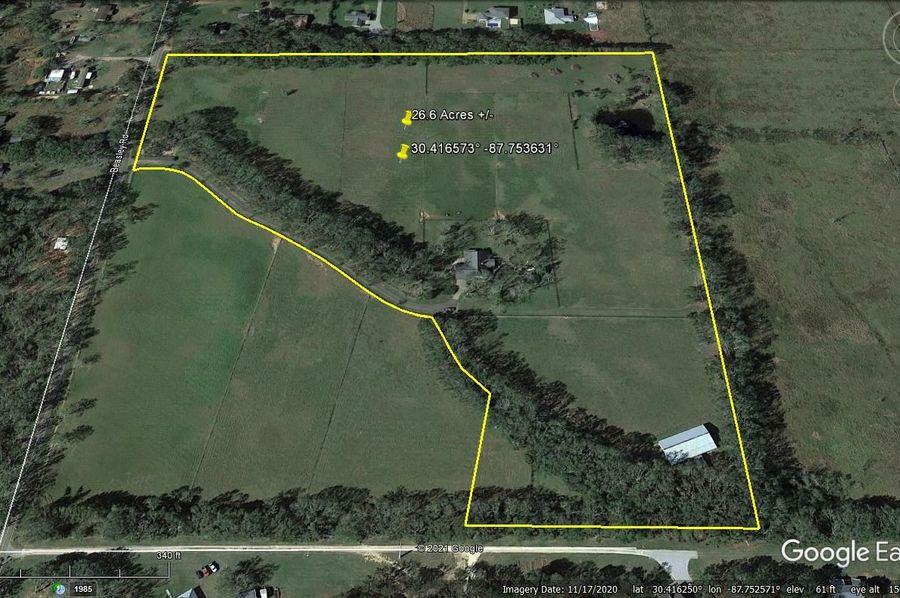Aerial 5 approx. 26.6 acres baldwin county, al