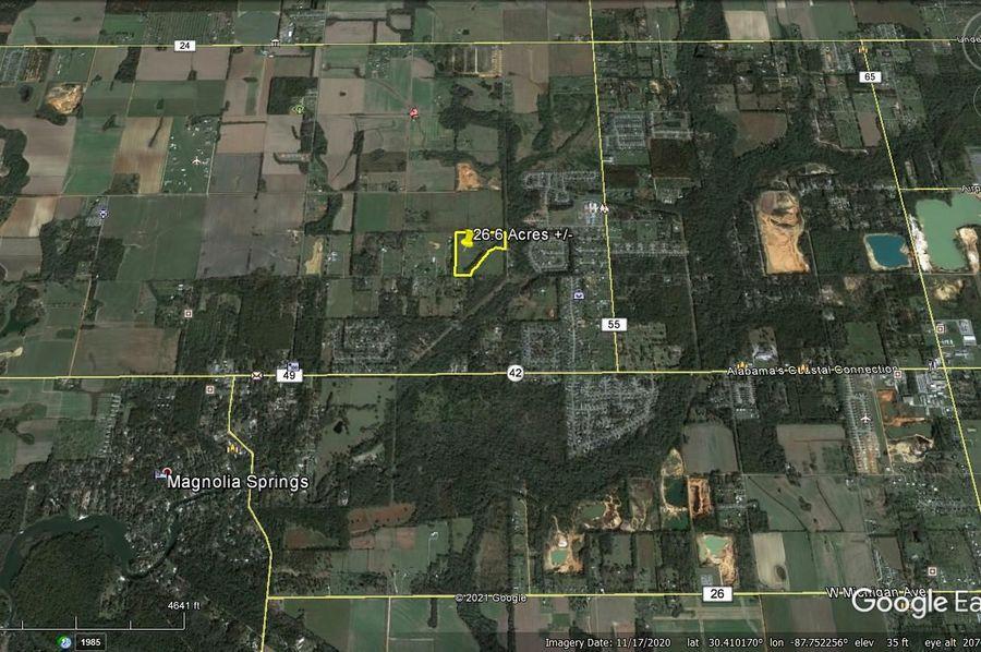 Aerial 6 approx. 26.6 acres baldwin county, al