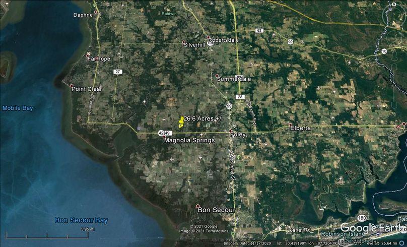 Aerial 7 approx. 26.6 acres baldwin county, al