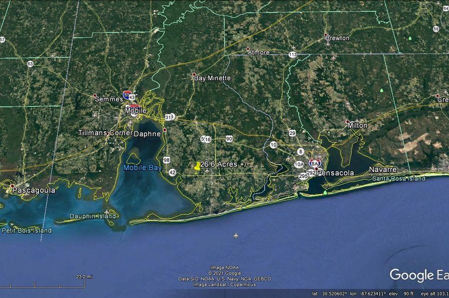 Aerial 8 approx. 26.6 acres baldwin county, al