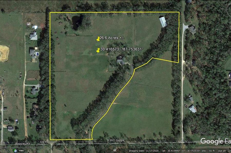 Aerial 1 approx. 26.6 acres baldwin county, al