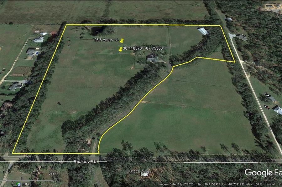 Aerial 2 approx. 26.6 acres baldwin county, al