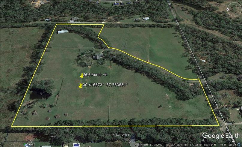 Aerial 3 approx. 26.6 acres baldwin county, al