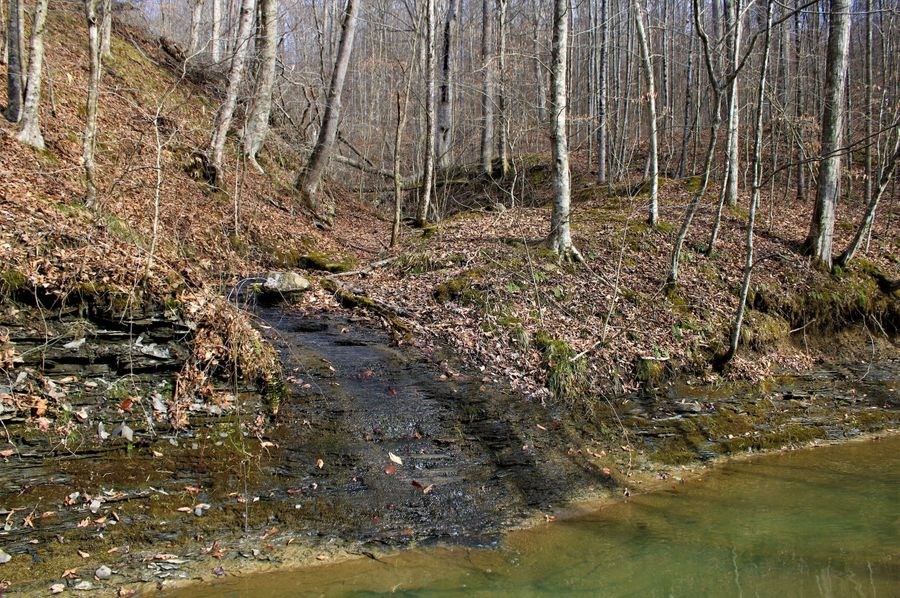 007 nice little waterfall pouring out a secondary drainage into lick branch creek